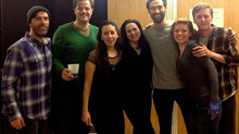 The wonderful cast of 'Trestle at Pope Lick Creek' at the New Theatre Workshop at Brooklyn College