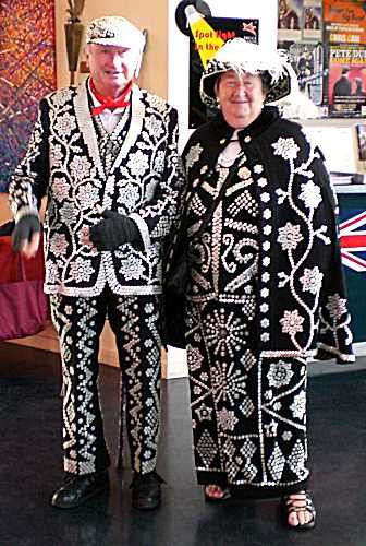 Two elderly pearly queens