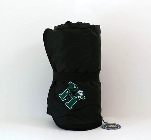 Black Fleece and Poly Travel Blanket