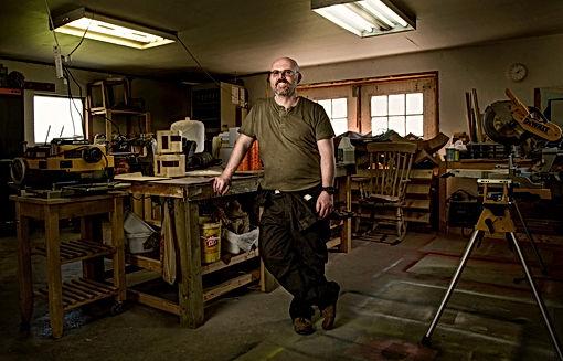 Manny Blair in workshop