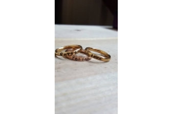 TWO 3mm Gold Steel Set