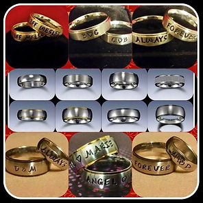 Engraved Steel Rings