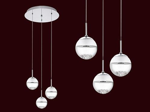 Colgante Montefio 3 luces base redonda - Ronda