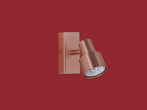 Plafon / Aplique Boa para dicroica led 1 luz COBRE - INCLUYE LAMPARA LED - RONDA