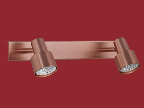 Plafon / Aplique Boa para dicroled 2 luces COBRE - INCLUYE LAMPARAS LED - RONDA
