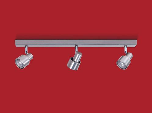 Plafon / Aplique Boa para dicroled 3 luces ACERO - INCLUYE LAMPARAS LED - RONDA