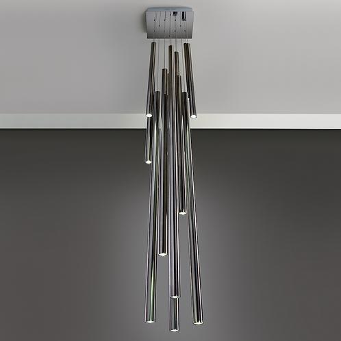 Colgante Focus 12 luces -NIKEL
