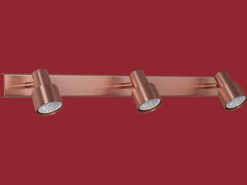 Plafon / Aplique Boa para dicroled 3 luces COBRE - INCLUYE LAMPARAS LED - RONDA