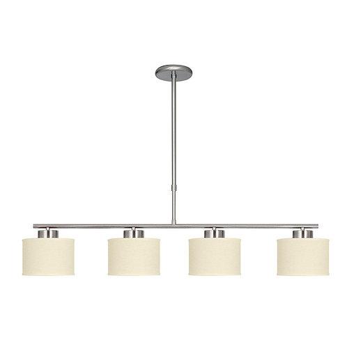 Colgante Slim 4 luces - NIKEL