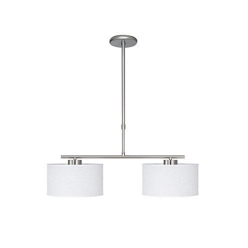 Colgante Slim 2 luces - NIKEL