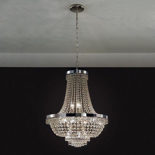 Araña Colgante Imperio - 12 Luces 62x50cm - NIKEL