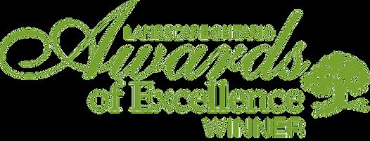 Awards of Excellence winner logo green (