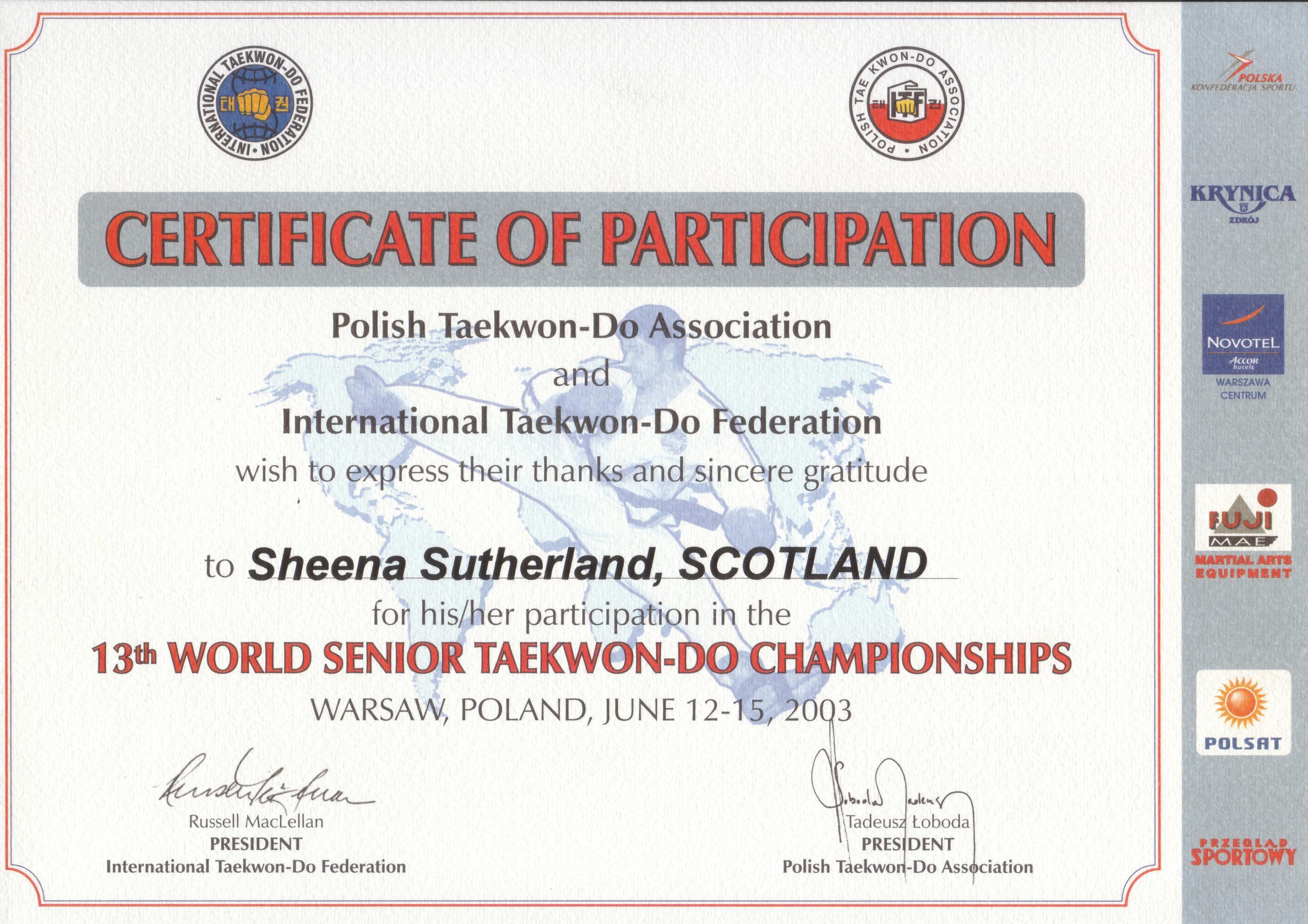 Worlds Champ Poland  2003