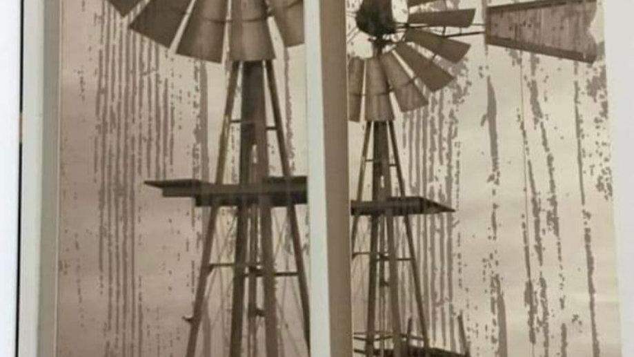 Windpomp muur stel