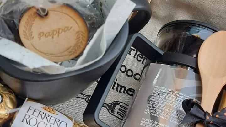 Koffie boks met inhoud en graveering (SA alleenlik)