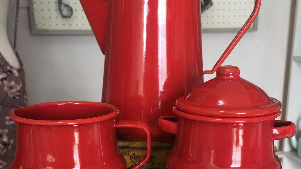 Enamel Koffie Pot