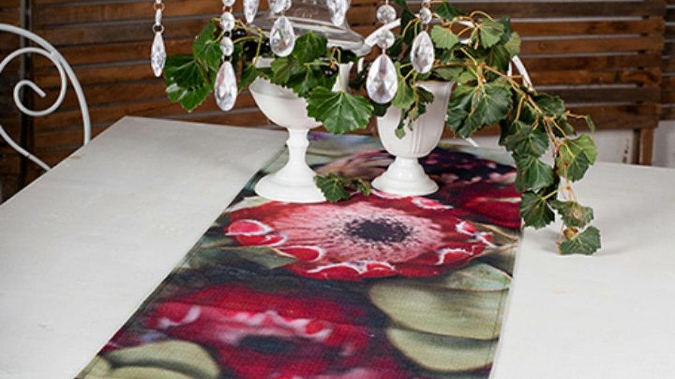 Tafel loper -Donker Proteas