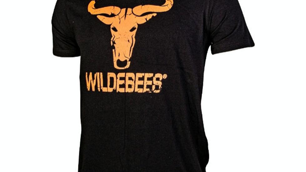 Wildebees mans themp - swart en oranje