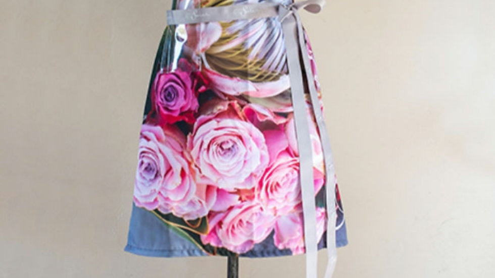 Voorskoot - Protea met pink rose