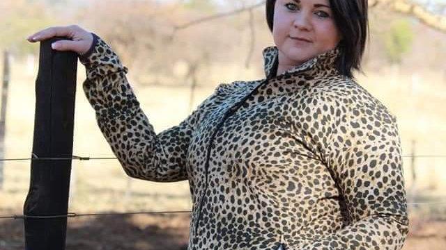 Dames Soft Shell Baadjie (bruin leopard print)