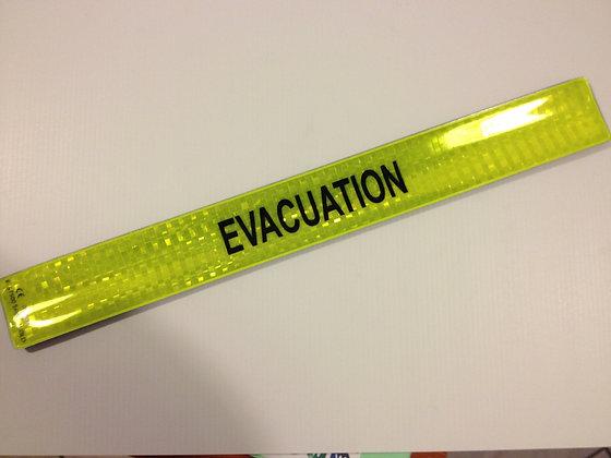 Brassard slap EVACUATION jaune