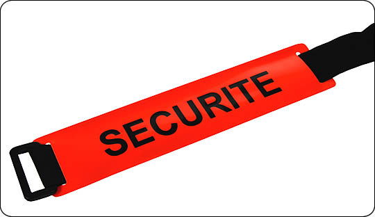 Brassards ajustable SECURITE