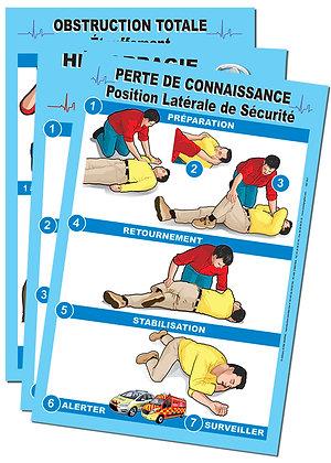 Affiches simplifiées premiers secours