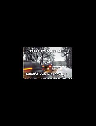 Réglette distance de freinage
