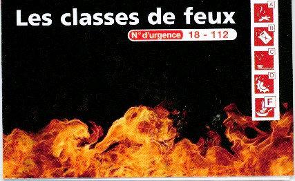 Réglette classe de feux