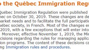 魁北克省移民政策发生如预期的巨变