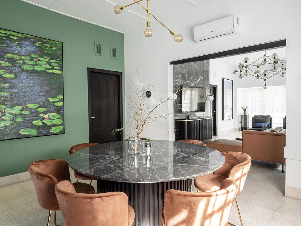 dining room living area lorcabiru tallok award winning interior designer australia