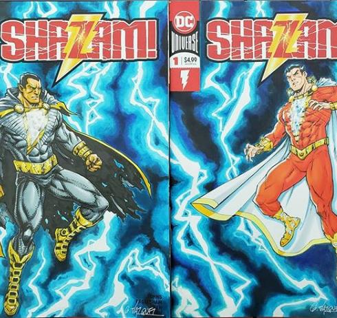 Black Adam vs Shazam