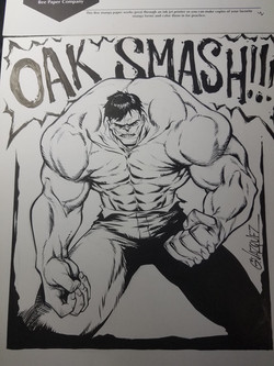 Hulk 11 x 14 B&W