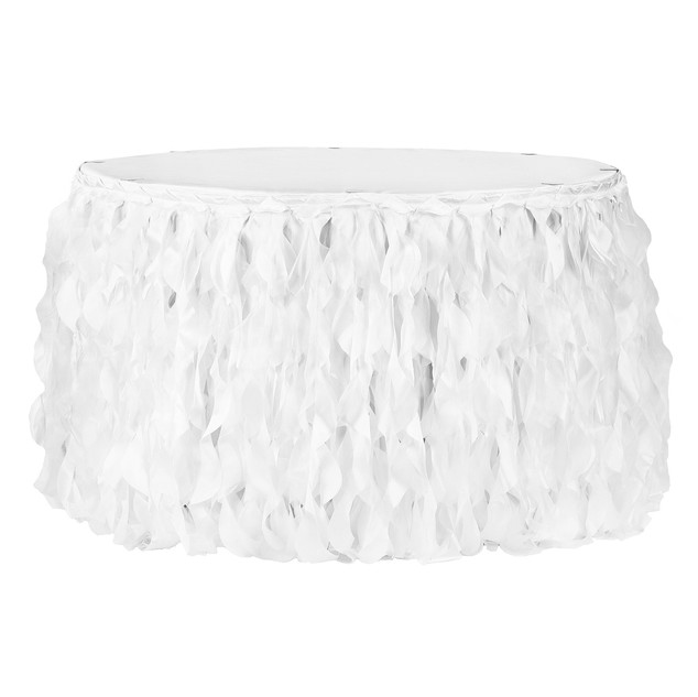 Curly Willow 21ft Table Skirt - White