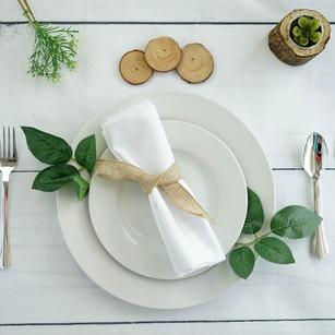 White Polyester Linen Napkins