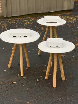 White Round Tables