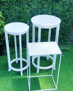 Round and Square Table set 1: $30 per set