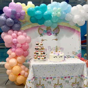 Unicorn Half Arch Balloon Garland: $165