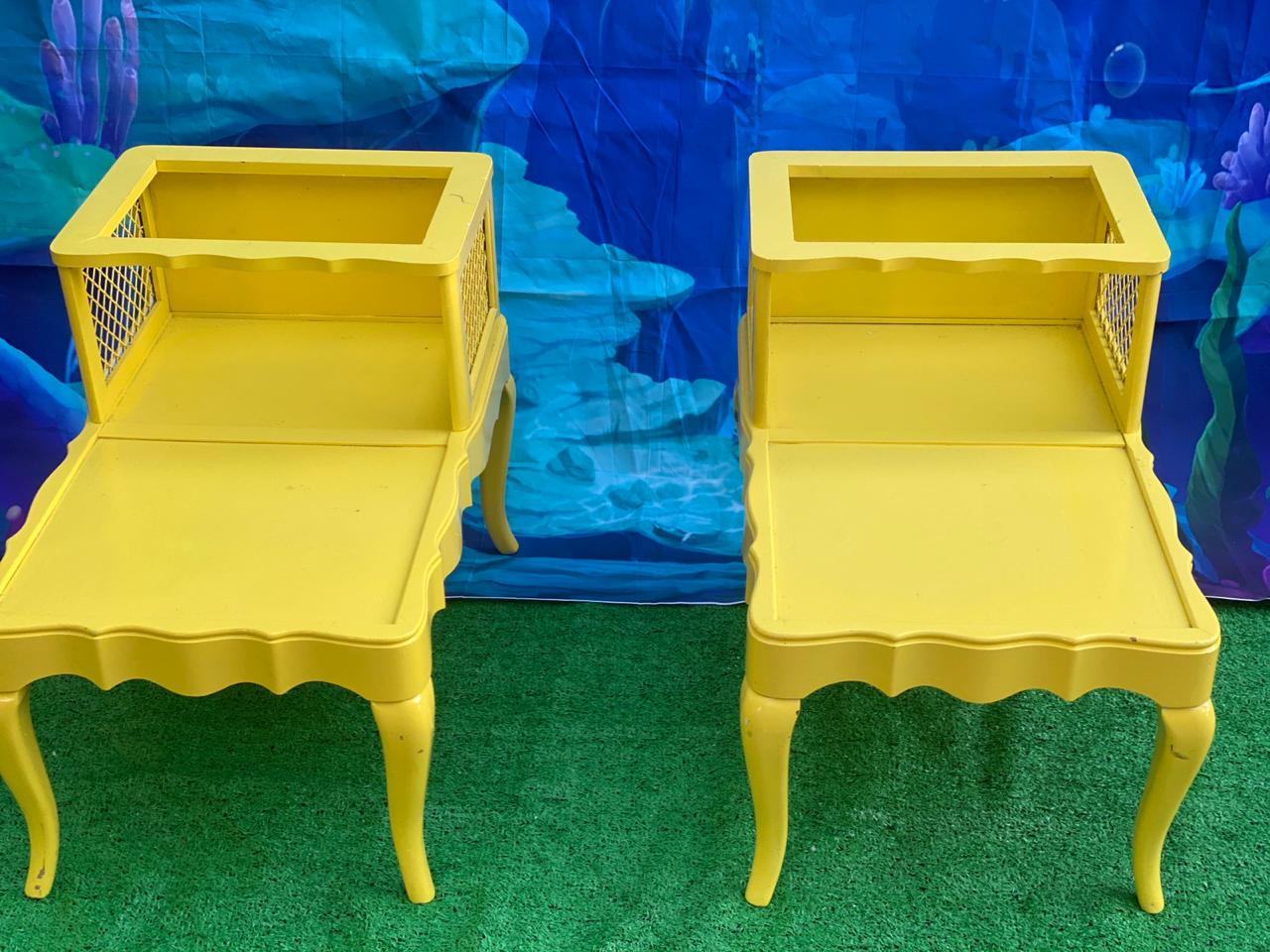 Chic Yellow Side Tables