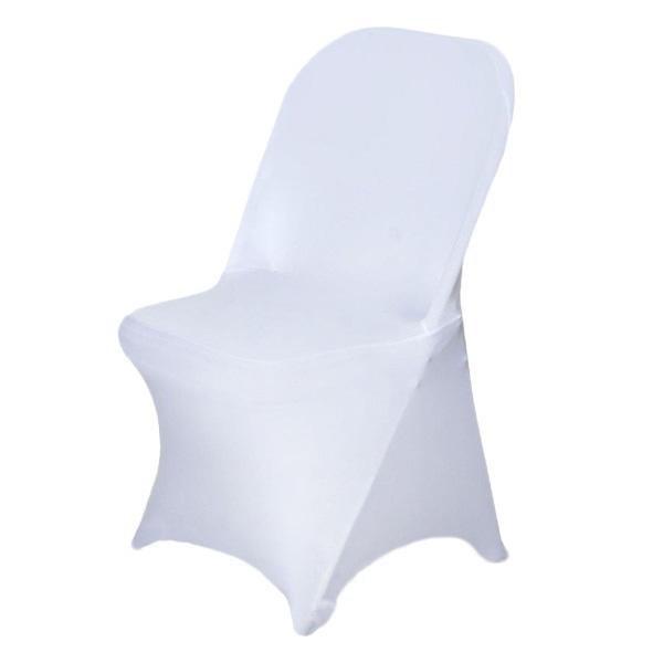 White Spandex Stretch Folding Chair Cover