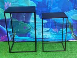 Black Square Table Set