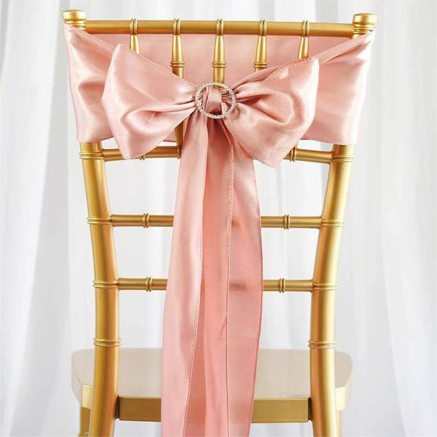 Dusty Rose Satin Chair Sash