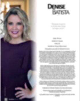 Matéria sobre Denise Batista para Revista Mulher Brazil USA