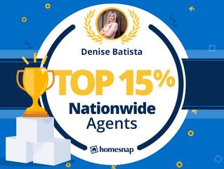 Recebi o prêmio TOP AGENT 15% nos Estados Unidos