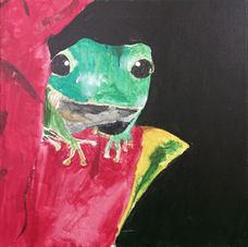 Frog on Flower