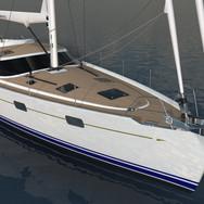 Kraken 58 ft Luxury Sailing Yacht front render
