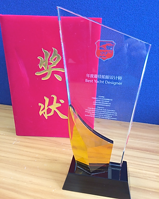 2017 Yacht designer of the year award. Won by Krkane's Yacht designer Kevin Dibley