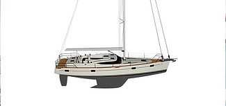 Kraken Luxuy Sailing yacht render