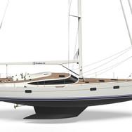 Kraken 58 ft Luxury Sailing Yacht side on render