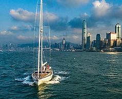 Kraken 66 Yacht leaving Hong Kong